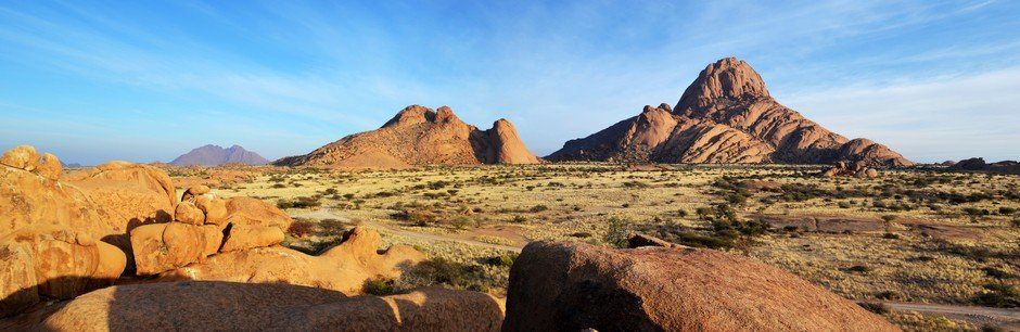 Vue panoramique sur le Spitzkoppe